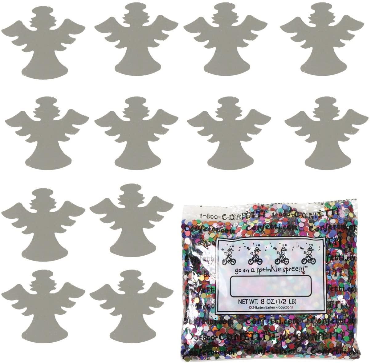 Confetti Angel w/Halo Silver - Half Pound (8 oz) (9546)