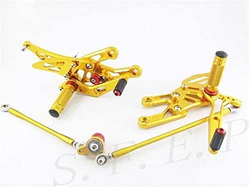 Frames & Fittings CNC Adjustable Rearsets Foot Pegs Rear Set for Honda CBR1000RR 2004-2005-2006-2007 & CBR600RR 2003-2004-2005-2006 - (Color: Gold)