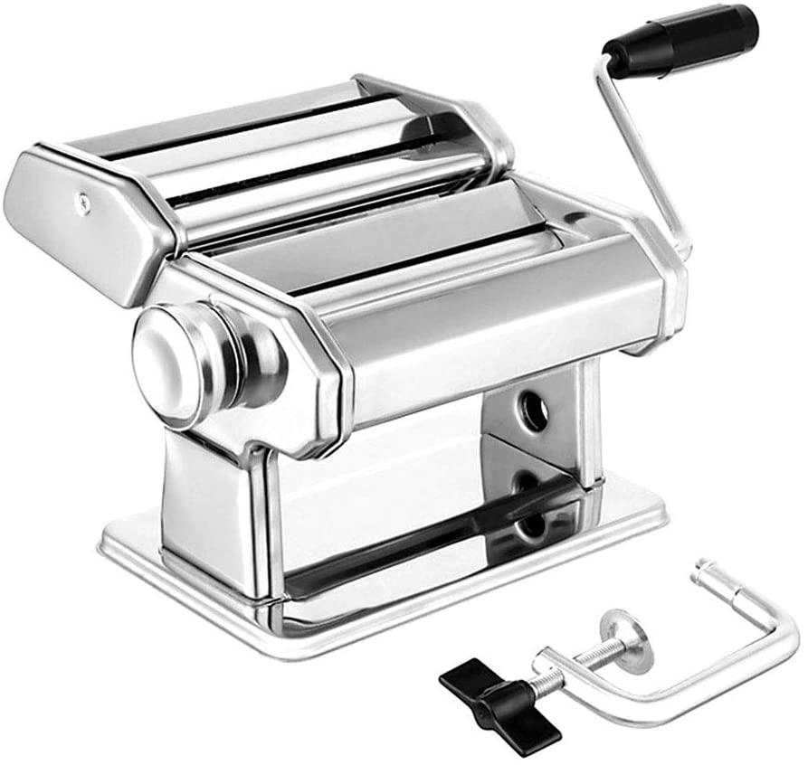 Noodle Maker Machine Manual Pasta Maker Noodle Press Cutter Machine 7 Thickness Settings Fresh Macaroni Lasagna Noodle Roll