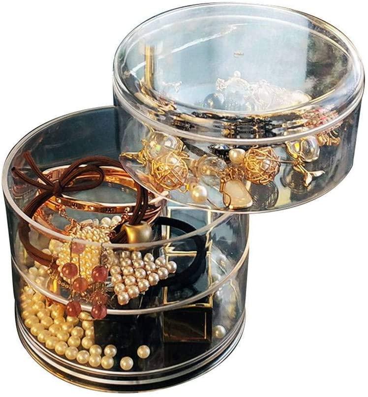 Plastic Jewelry Box,Sheer Jewelry Organizer Luxury Multi Function Portable Organizer Necklaces Bracelets Earrings Ring Jewelry Organizer-B