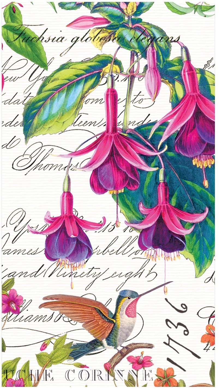 Michel Design Works 15 Count Hostess Napkin, Fuchsia, Multicolor