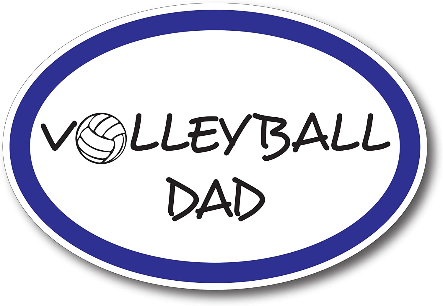 Volleyball Dad Car Magnet Decal 4 x 6 Oval Heavy Duty for Car Truck SUV Waterproof