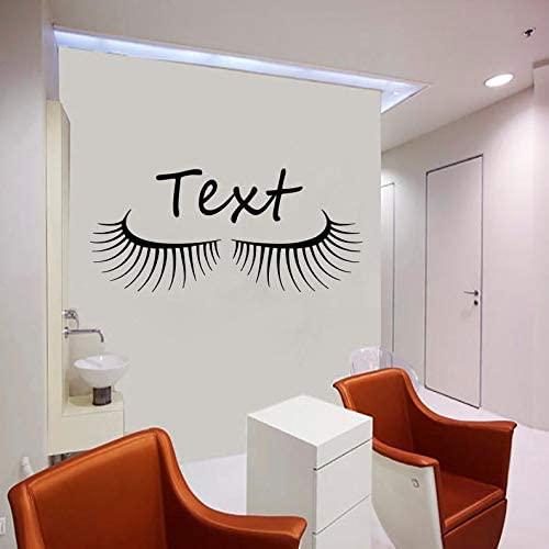 BYRON HOYLE Eyelash Decals Wall Decal Window Sticker Beauty Salon Woman Face Eyelashes Lashes Eyebrows Brows t880
