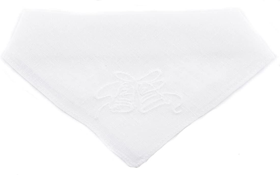 Traditional Ladies Linen Handkerchief with Wedding Bells Design
