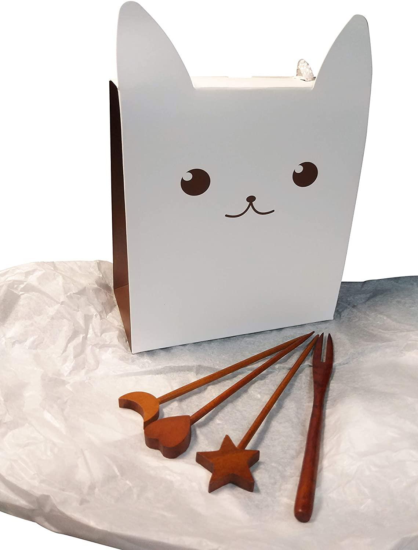 Korean Traditional OTTCHIL Wooden Utensil Set for Dessert with Gift Package (4)