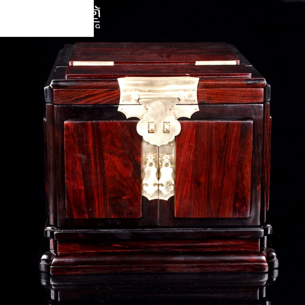 WODESHIJIE Wood Classical Wedding Red Jewelry Boxes