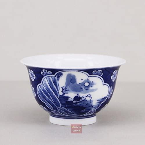 Chinese Jingdezhen Porcelain Ice Plum teacup with landscape painting tea cup 50cc