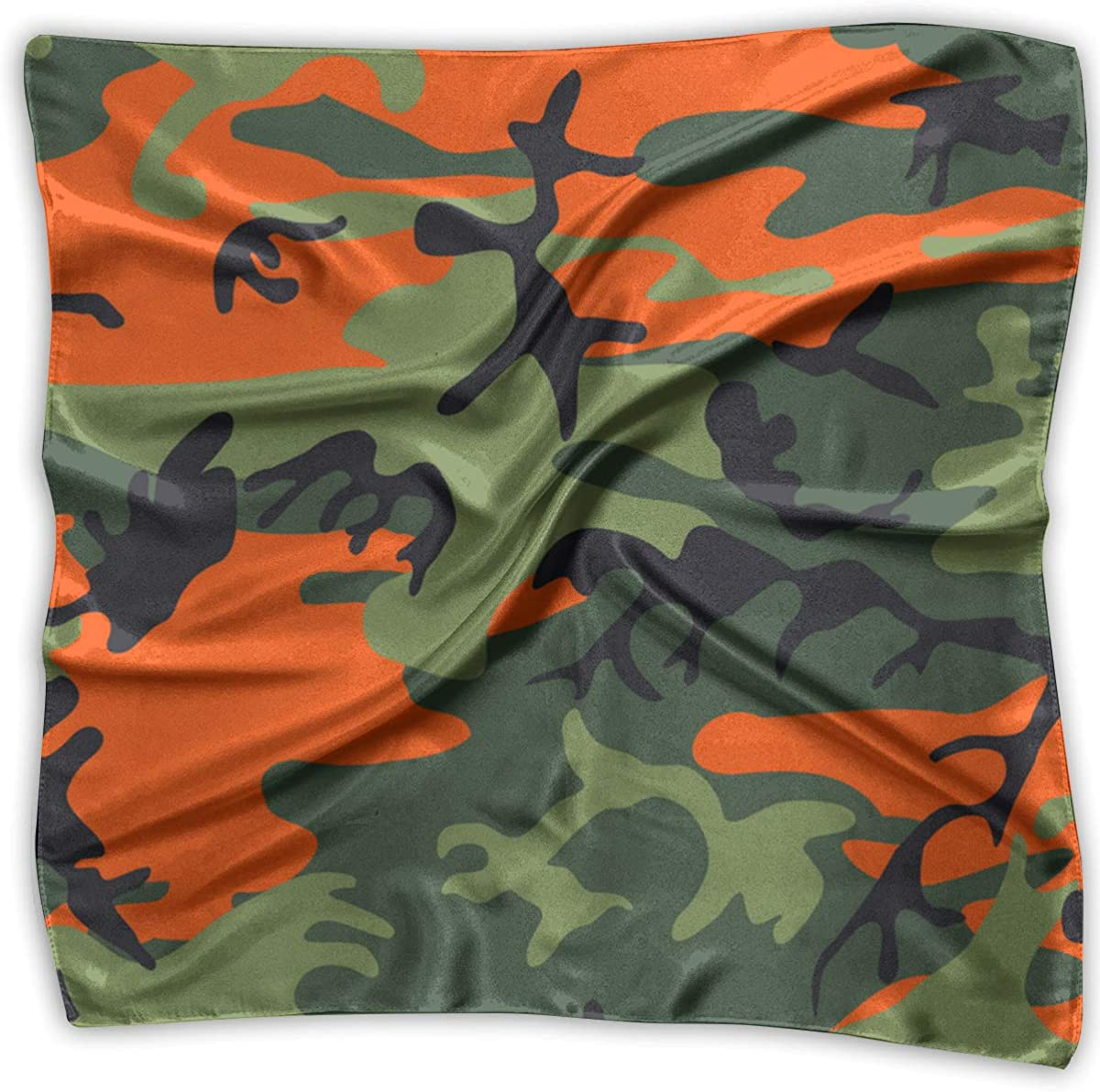 Colorful Camouflage Women's Handkerchief Square Silk Party Handkerchiefs