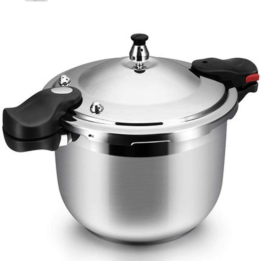 8L Stainless Steel Cone Pressure-resistant Pressure Cooker Steam Stew Cook Multifunctional Pressure Cooker 22cmSilver