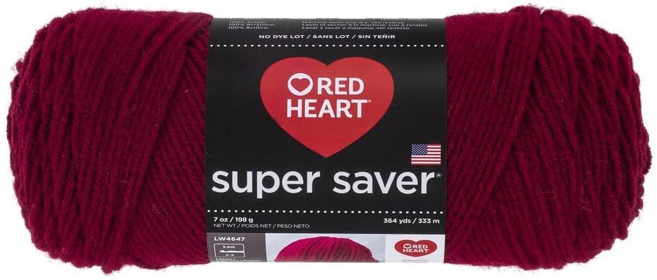 Red Heart Super Saver Yarn-Burgundy