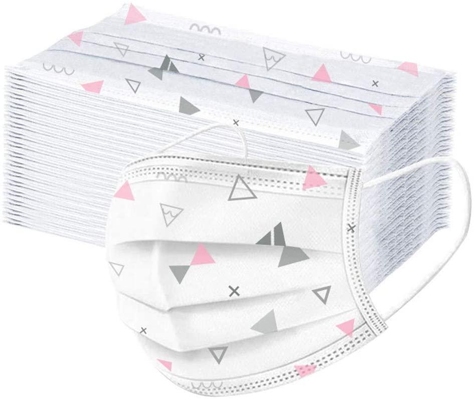Vintage Print Design Kids Reusable Face Bandanas Breathable Seamless Cute Print Cotton Children with Adjustable Ear Strap