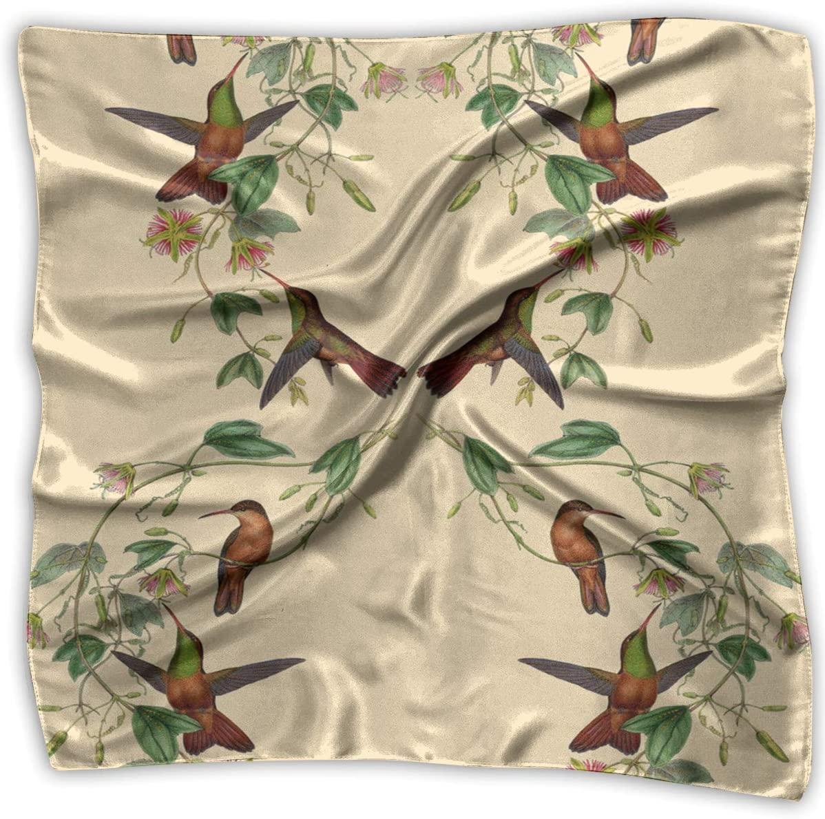 WFIRE Hummingbird Bird Square Handkerchiefs Scarf Shawl Bandanas Headscarf Neckerchief Tie Hair Scarf