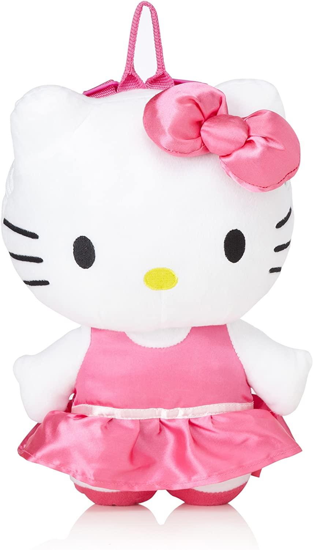Hello Kitty Satin Dress Plush Backpack