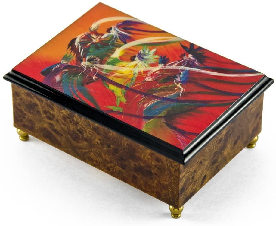 Artistic 18 Note Rainbow Dance Italian Musical Jewelry Box - Many Songs to Choose - Habanera (Carmen)