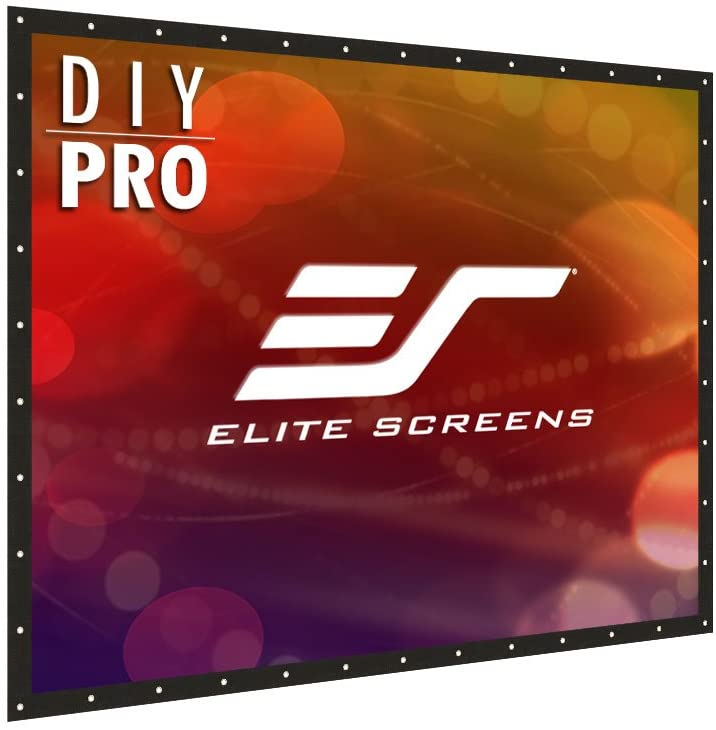 Elite Screens DIY PRO, Indoor Outdoor Portable Projector screen PVC 193-inch 4:3, 8K 4K Ultra HD 3D Movie Theater Cinema 193 Projection Screen with Grommets, Roll-Up Hang Anywhere, DIY193V1