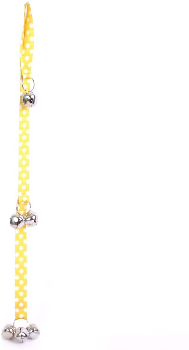 Yellow Dog Design Lemon Polka Dot Ding Dog Bells Potty Training System with 6 Bells, 26
