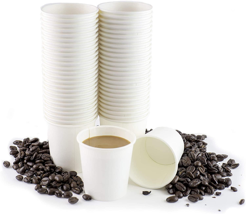 (200 Pack - 4 oz.) Paper Espresso Cups By Chefible - Small Disposable White Paper Coffee Cups, Sampling Paper Cups, Macchiato, Cortado etc.