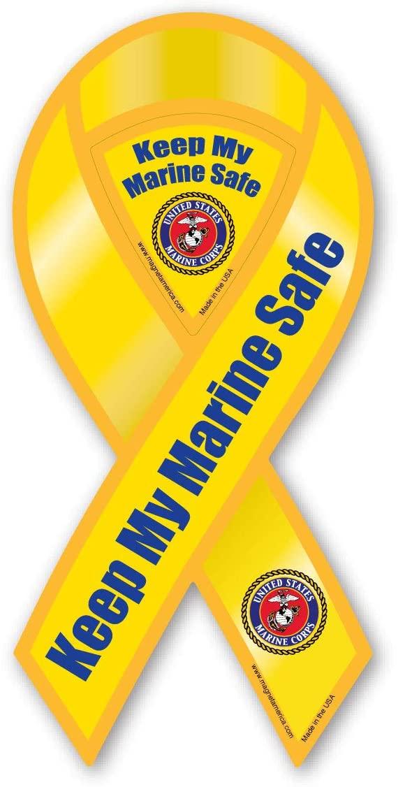 Keep My Marine Safe Ribbon Magnet