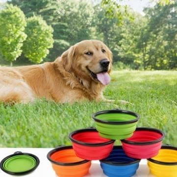Collapsible Pet Travel Bowl Foldable Dog Compact Feeding Dish Cat Silicone Lightweight Bowl