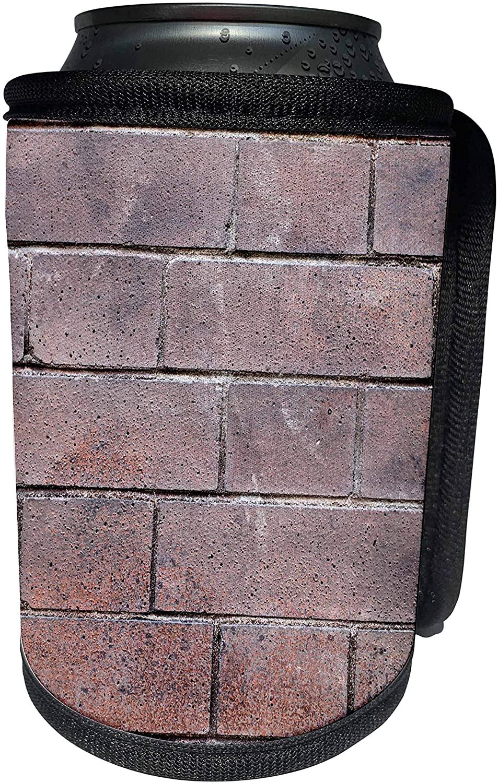 3dRose Henrik Lehnerer Designs - Abstract - Red bricks wall with an regular pattern as a background - Can Cooler Bottle Wrap (cc_244442_1)
