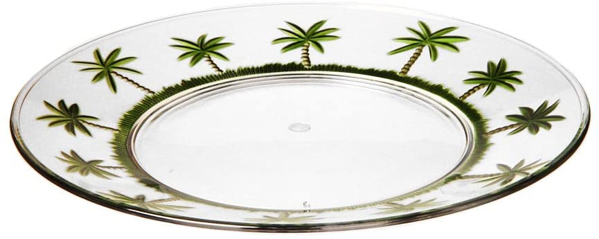My Table Talk Set of 4 - Acrylic Palm Tree Classic Series 11 Plate