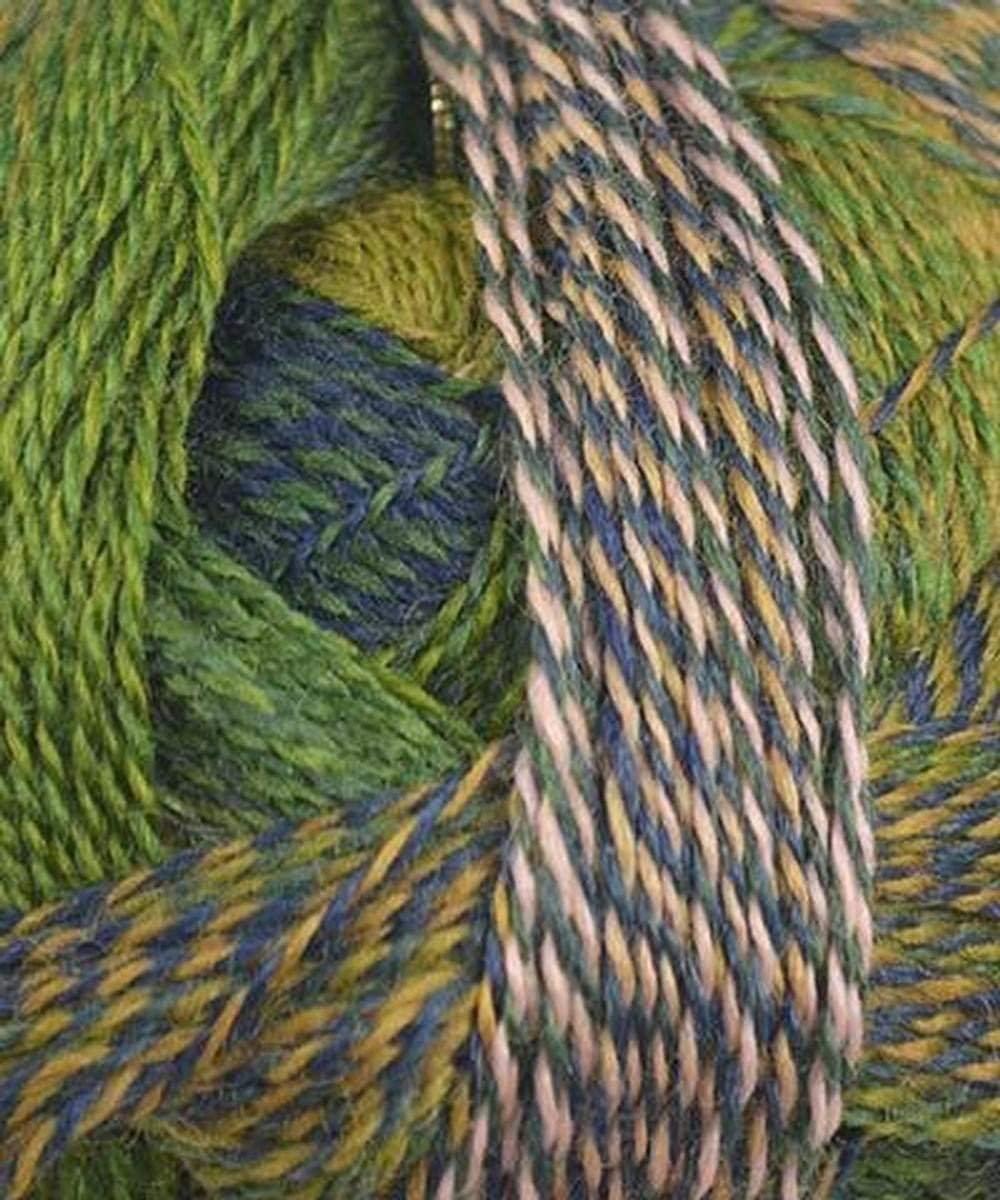 Schoppel Wolle - Zauberball Crazy Knitting Yarn - Green/Navy/ Peach (# 2292)