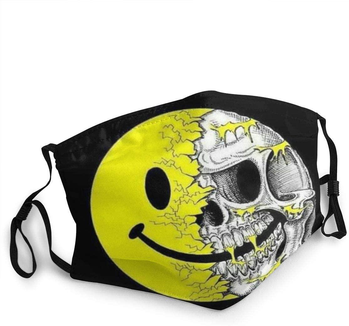 Personalized Face Mouth Protection Fabric Reusable Washable Adjustable Bandana Mask Balaclava Neck Gaiter - Skulls