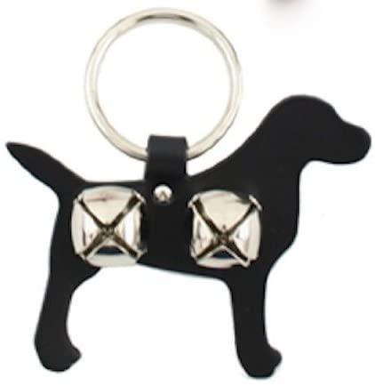 Leather Lab Bell Door Hanger - BLACK -