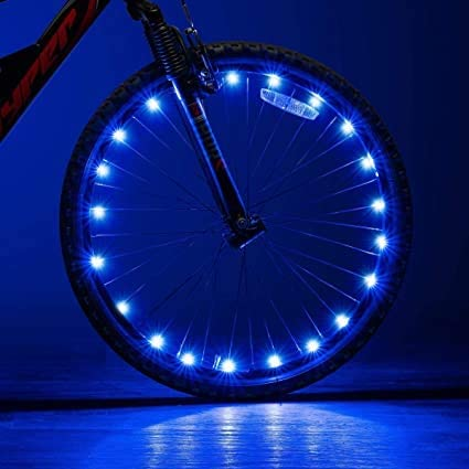 Maraehan Jackgold LED Bike Wheel Lights,Bike Wheel Lights Front and Back,Brilliant and Waterproof Bicycle Wheel Light for Ultimate Safety & Style(6 PCS)