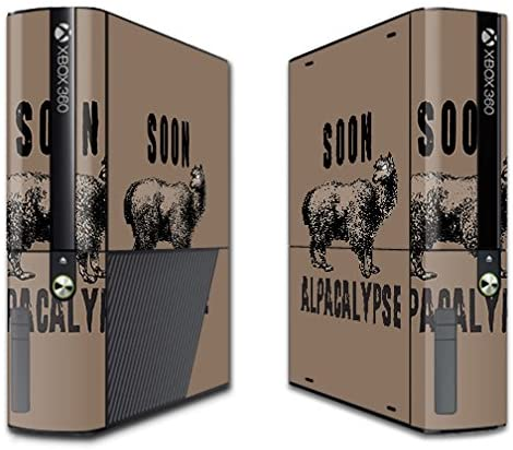 MightySkins Skin Compatible with Microsoft Xbox 360E (3rd Gen) – Alpacalypse | Protective, Durable, and Unique Vinyl Decal wrap Cover | Easy to Apply, Remove, and Change Styles | Made in The USA