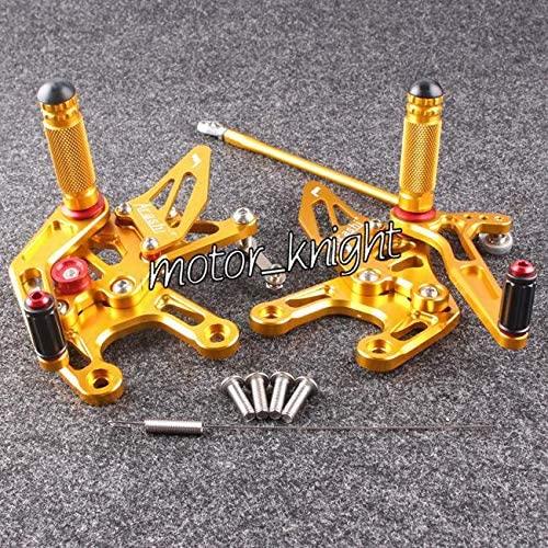 Frames & Fittings Golden Rearset Motorcycle Rear Sets for 2008-2010 Ninja ZX10R Adjustable Foot Pegs