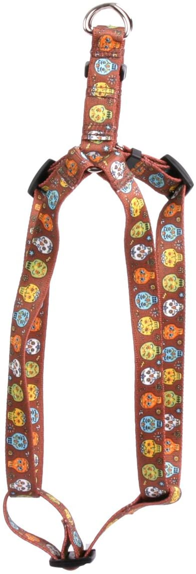 Yellow Dog Design Candy Skulls Step-in Dog Harness 3/4 Wide and
