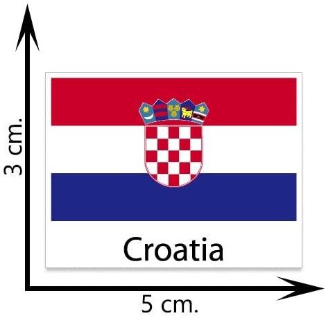 Croatia Flag Temporary Tattoos Sticker Body Tattoo