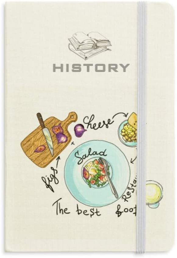Salad Cheese Figs France Restaurant History Notebook Classic Journal Diary A5