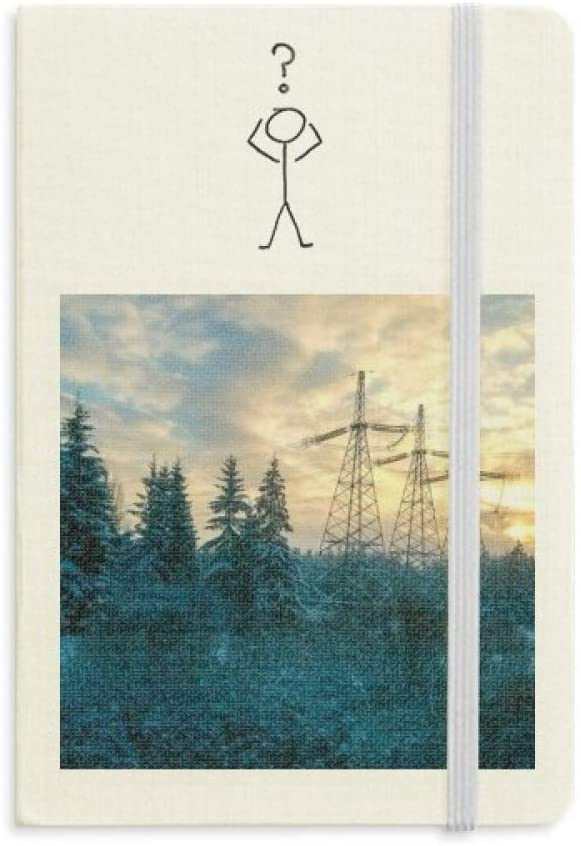 Science Nature Green Forestry Scenery Question Notebook Classic Journal Diary A5