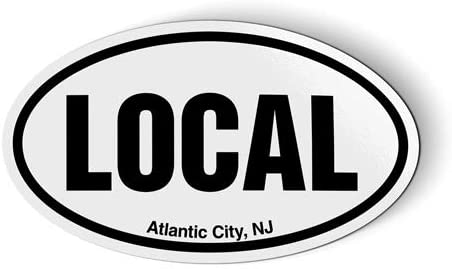 Stickers & Tees Local Atlantic City NJ New Jersey Oval - Car Magnet - 5