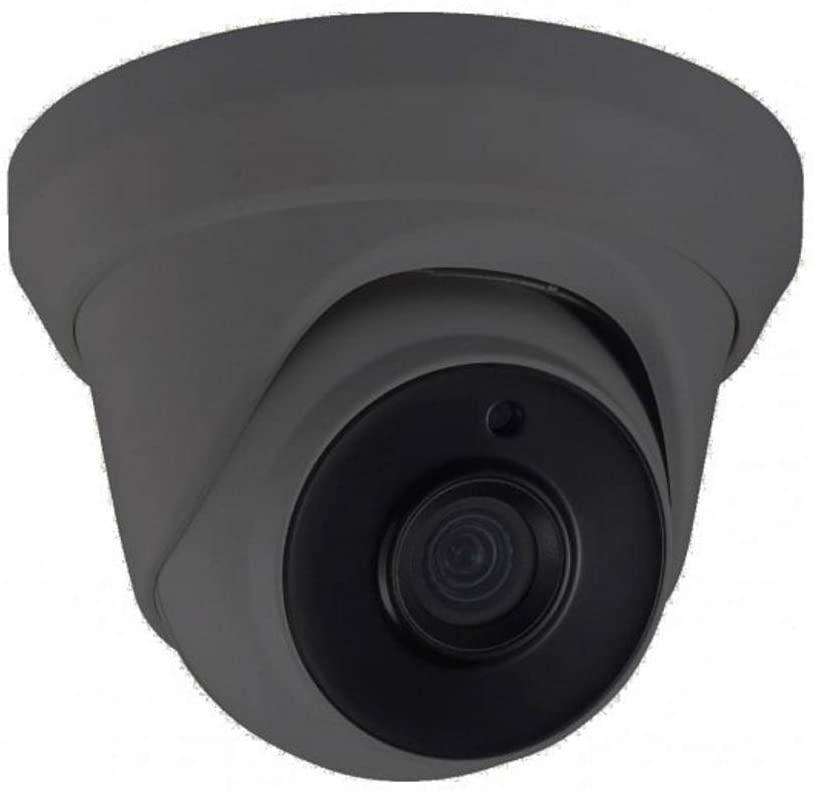 DefendItYourself.com Hikvision OEM 4 Megapixel Gray Turret IP Camera 2.8mm (2.8mm Gray Camera Body)