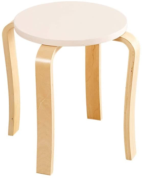 ch-AIR JL Household Solid Wood Stool Fashion Creative Dining Table Stool Living Room Small Chair Thickening Adult Dining Chair Modern Minimalist A+ (Color : E)