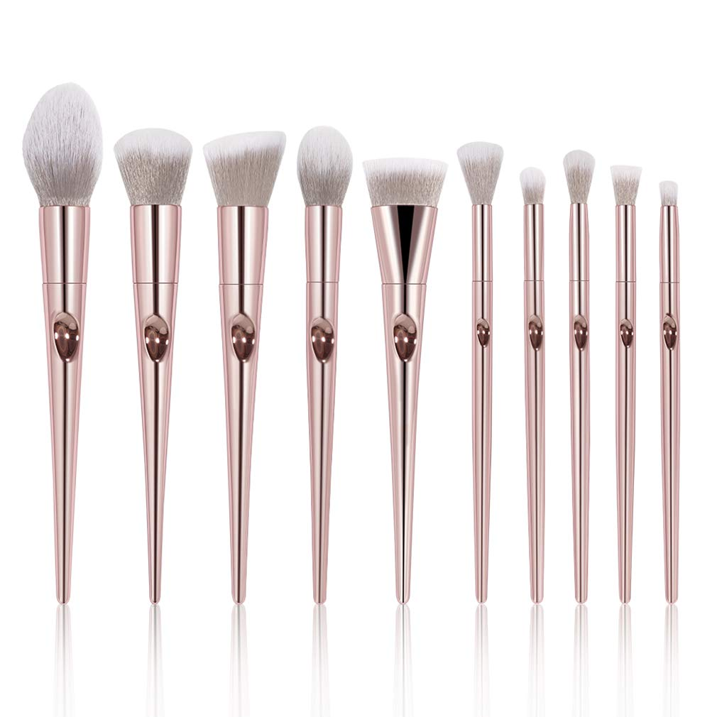 Makeup Brushes Set, Professional Brush Foundation Eyebrow Eyeliner Blush Cosmetics Brush Kit (10pcs(laser))