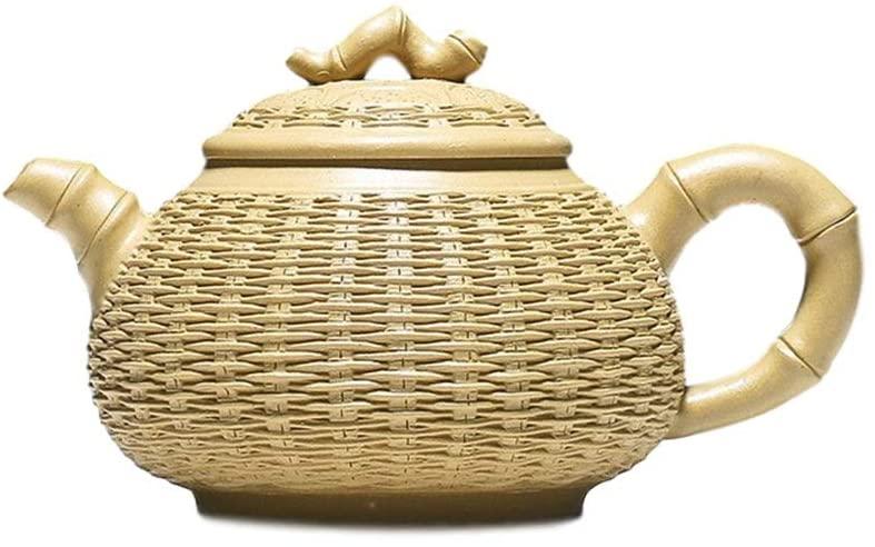 MADONG teapot handmade bamboo pot (Color : Yellow)