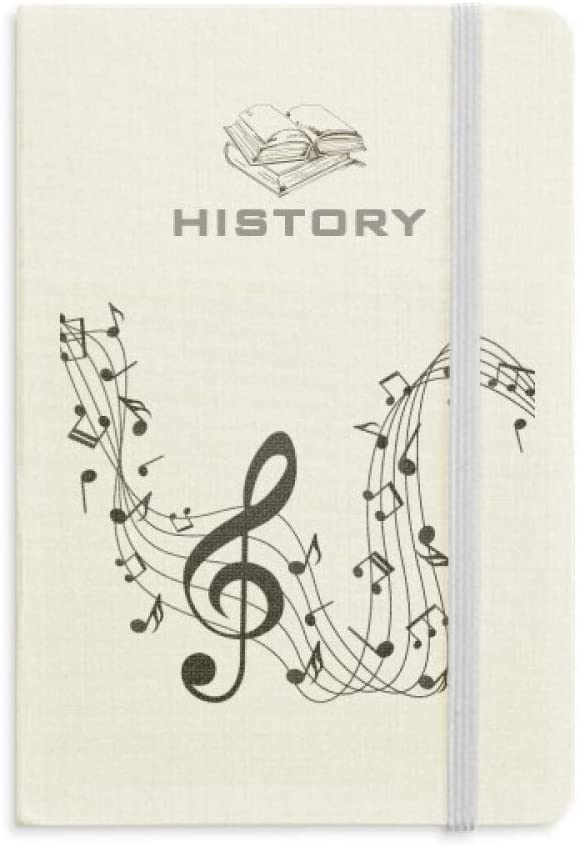 Flappg Black Music Notes History Notebook Classic Journal Diary A5