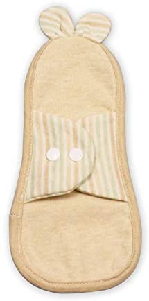 Luckypads Certified Organic Cotton Cloth Menstural Pads, Reusable Washable Sanitary Napkin, Light Incontinence Pads, Mama Cloth (Small, Green)