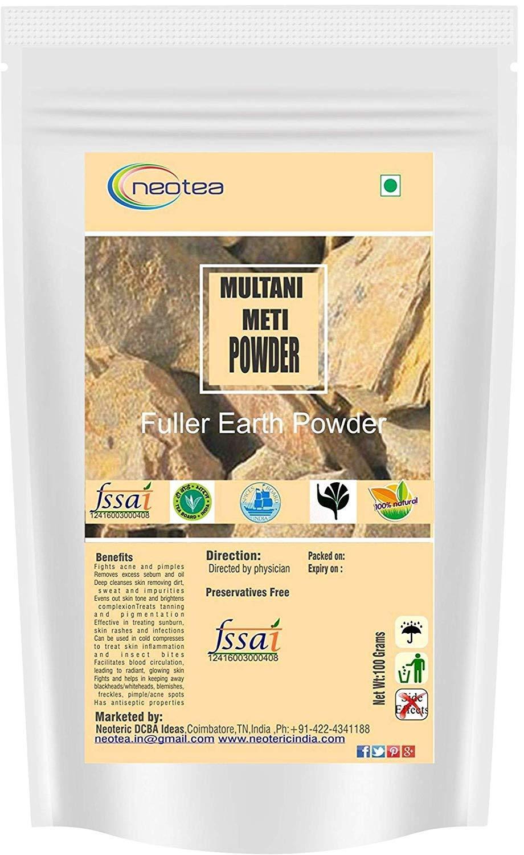 Neotea Herbal Multani Mitti or Fuller Earth Powder (500g)