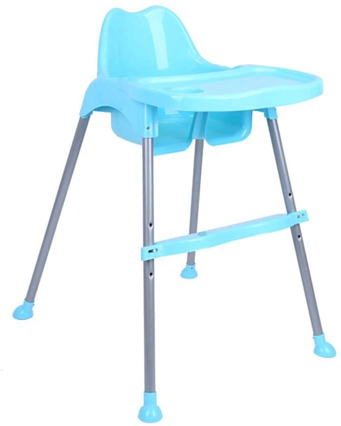 Booster Seat with Snack Plate Baby Booster Seat High Chair Portable Kids Dinner Chair With Tray Feeding Plate Table Anti-slip Safe Comfortable Foldable Adjustable High Chair for babys ( Color : Blue )