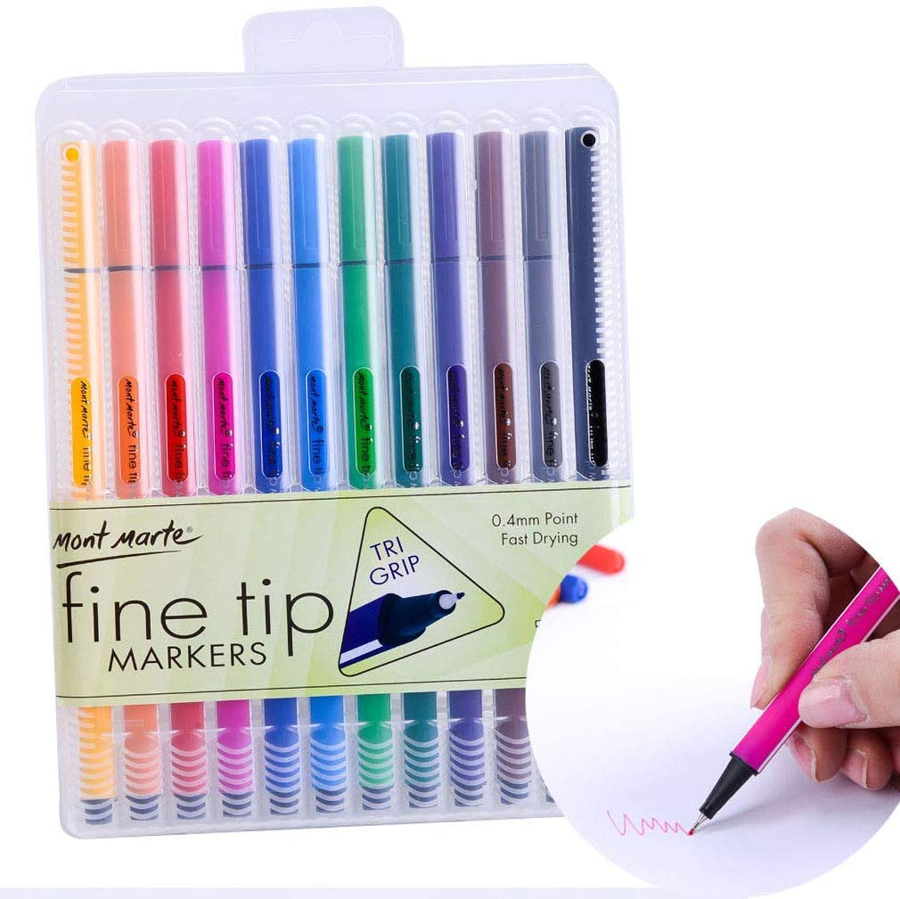 Syringe Pen Fine-tipped Marker Hand-drawn Drawing 12-color Watercolor Pen Unisex with Cap