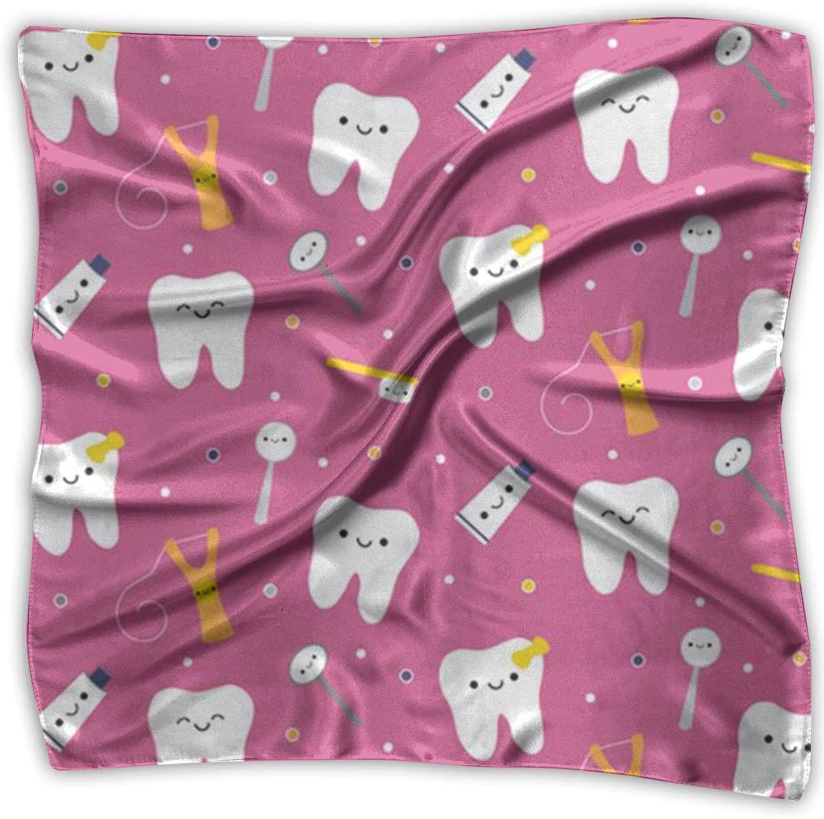 WFIRE Dental Dentist Square Handkerchiefs Scarf Shawl Bandanas Headscarf Neckerchief Tie Hair Scarf