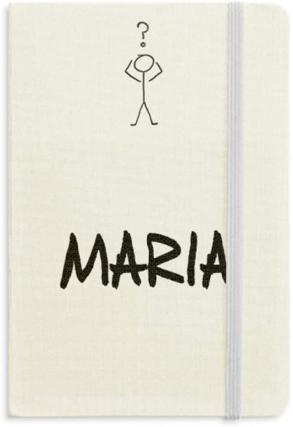 Special Handwriting English Name MARIA Question Notebook Classic Journal Diary A5