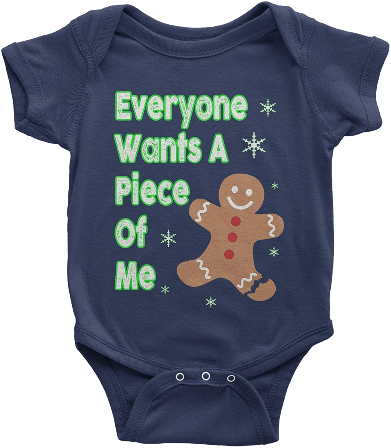 Expression Tees Everyone Wants A Piece of Me Gingerbread Infant One-Piece Romper Bodysuit