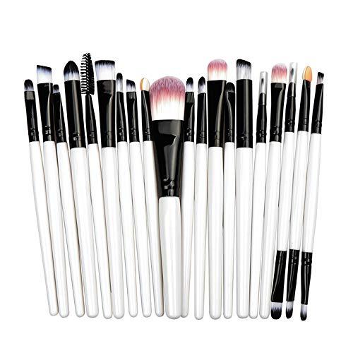 Yfymk 20/5Pcs Makeup Brushes Set Eye Shadow Foundation Powder Eyeliner Eyelash Lip Make Up Brush Cosmetic Beauty Tool Kit (Handle Color : Shua 20 BH)