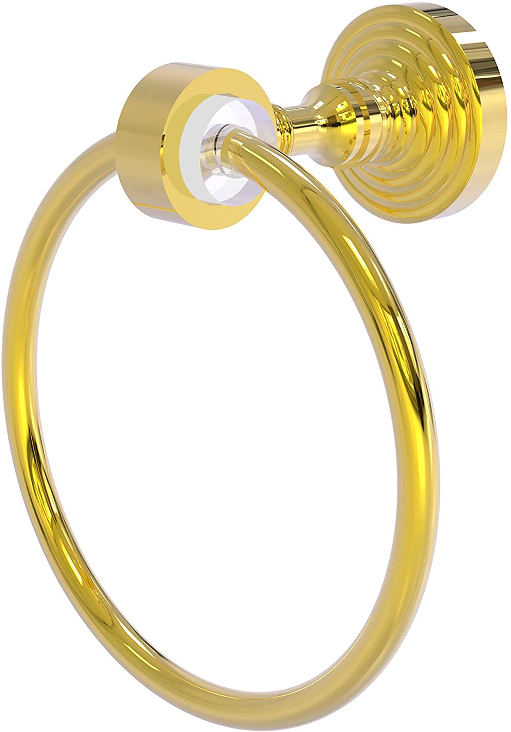 Allied Brass PG-16 Pacific Grove Collection Towel Ring, Polished Brass